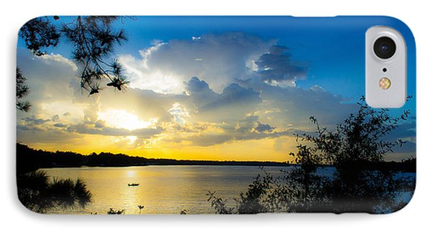 Sunset Fishing IPhone Case by Shannon Harrington