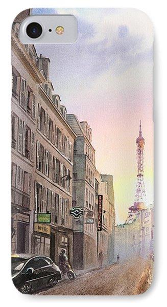 Sunset In Paris IPhone Case by Irina Sztukowski