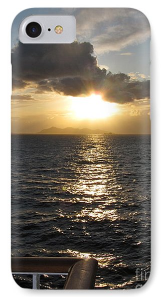 Sunset In The Black Sea Phone Case by Phyllis Kaltenbach