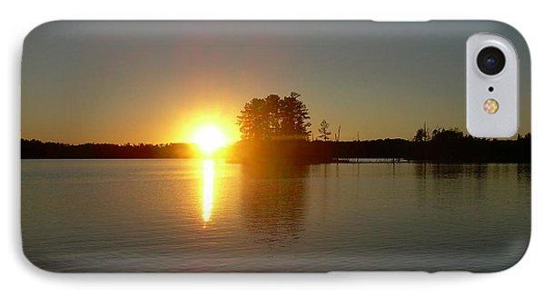 Sunset Juggler Lake Island IPhone Case