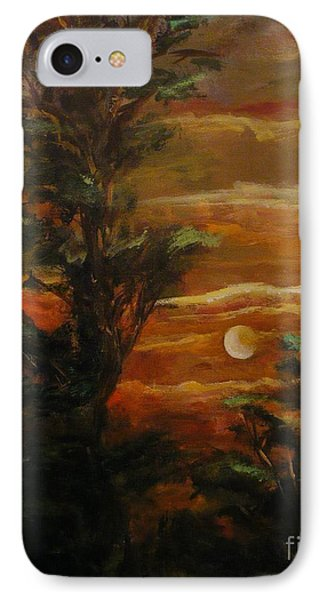 IPhone Case featuring the painting Sunset  by Karen  Ferrand Carroll