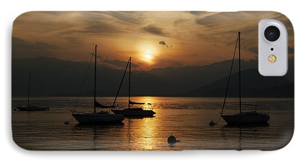 Sunset Lake Maggiore IPhone Case by Joana Kruse