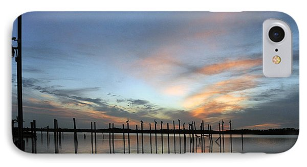 IPhone Case featuring the photograph sunset marina Everglades by Dan Friend