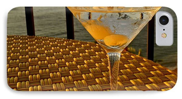 Sunset Martini In Maui I Phone Case by Kirsten Giving