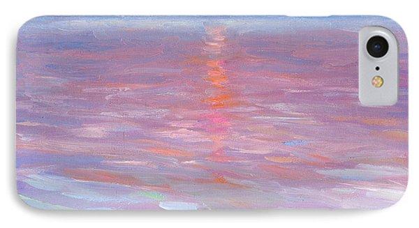 Sunset Ocean Seascape Oil Painting IPhone Case by Svetlana Novikova