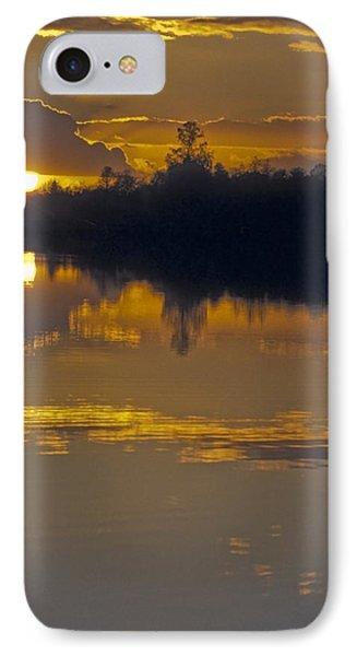 Sunset On A Lake Phone Case by Patrick Kessler