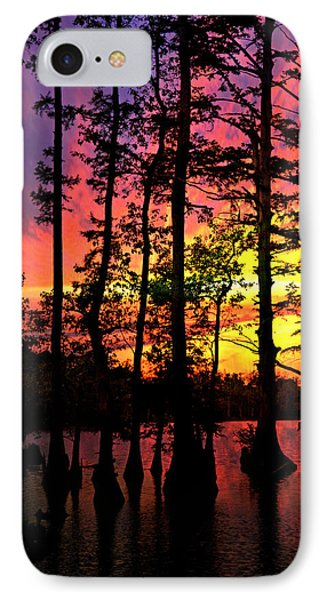 Sunset On Horseshoe Lake 1 Phone Case by Marty Koch