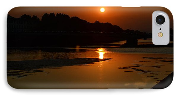 Sunset On The Arno River IPhone Case by Kathleen Pio