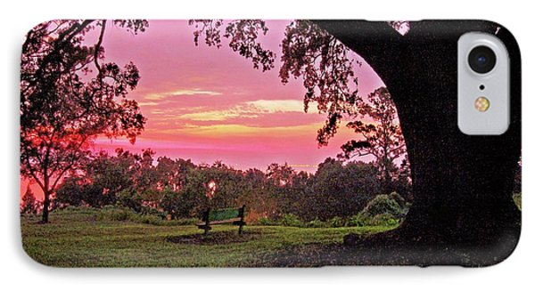 Sunset On The Bench Phone Case by Michael Thomas