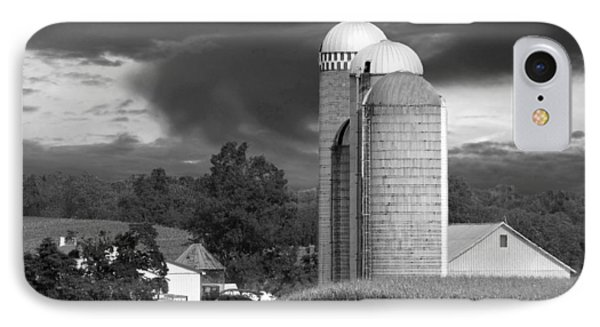 Sunset On The Farm Bw Phone Case by David Dehner