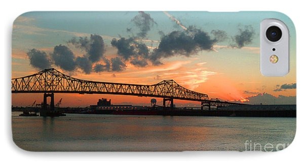 Sunset On The Mississippi  IPhone Case by Lydia Holly