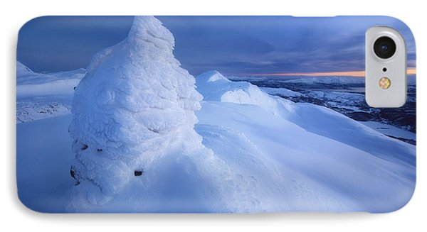 Sunset On The Summit Toviktinden Phone Case by Arild Heitmann