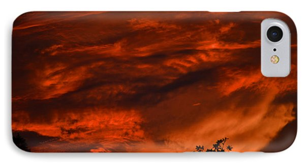 IPhone Case featuring the photograph Sunset Over Altoona by DigiArt Diaries by Vicky B Fuller