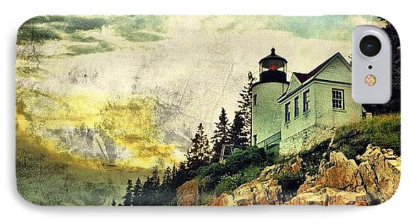 Sunset Over Bass Harbor Lighthouse IPhone Case