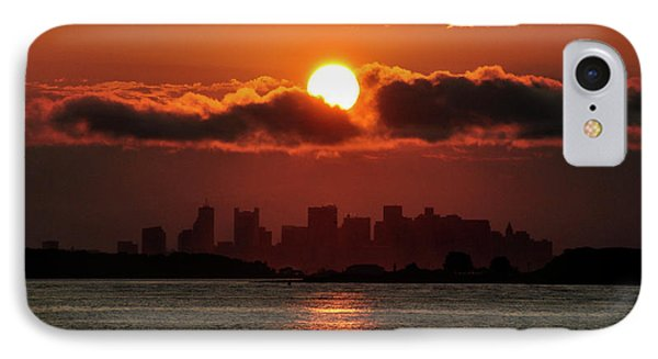 Sunset Over Boston IPhone Case by Joanne Brown