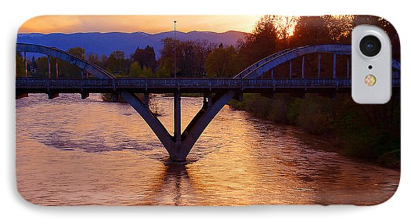 Sunset Over Caveman Bridge IPhone Case by Mick Anderson