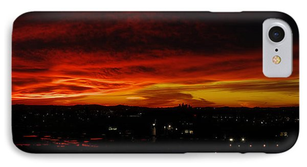 Sunset Over L.a. Phone Case by Mike Herdering