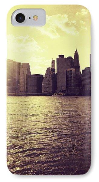 Sunset Over Manhattan IPhone Case by Vivienne Gucwa