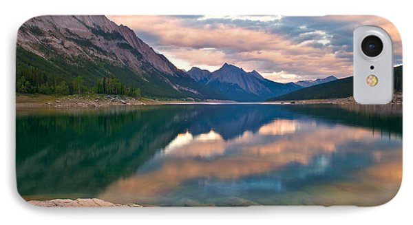 Sunset Over Medicine Lake Phone Case by James Steinberg and Photo Researchers