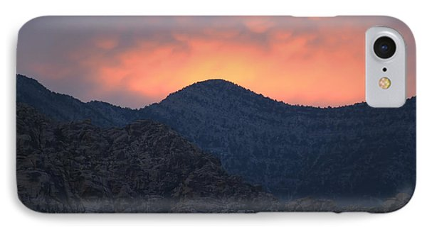 Sunset Over Red Rock IPhone Case by Art Whitton