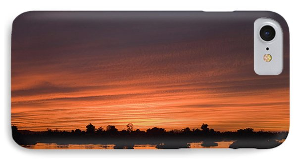 Sunset Over River Phone Case by Axiom Photographic