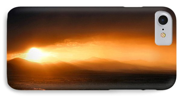 Sunset Over Salt Lake City Phone Case by Kristin Elmquist