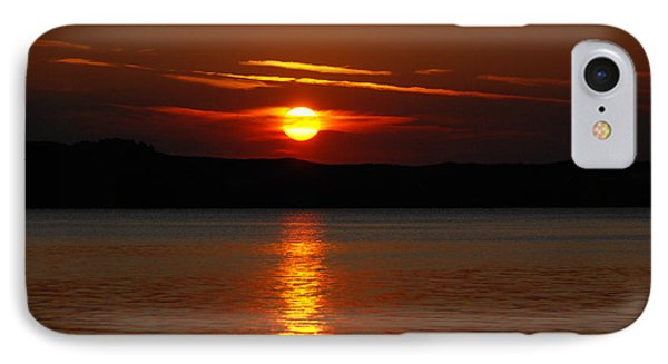 Sunset Over Silver Lake Sand Dunes Phone Case by Grace Grogan