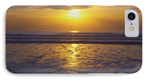 Sunset Over The Pacific Ocean Along The Phone Case by Craig Tuttle