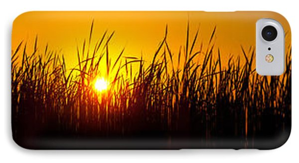 Sunset Over The Prairie IPhone Case by Steve Gadomski