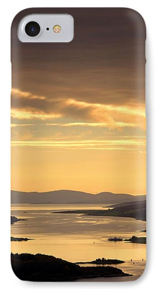 Sunset Over Water, Argyll And Bute IPhone Case by John Short