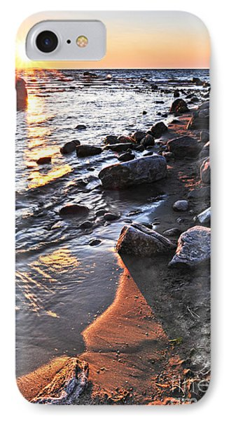 Sunset Over Water Phone Case by Elena Elisseeva