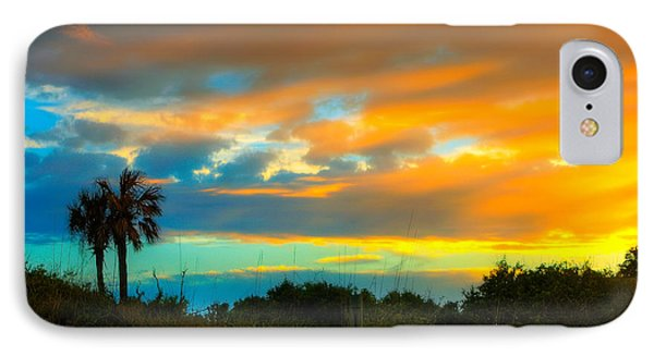 Sunset Palm Folly Beach  Phone Case by Jenny Ellen Photography