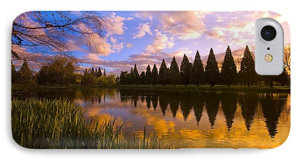 Sunset Reflection On A Pond, Portland Phone Case by Craig Tuttle