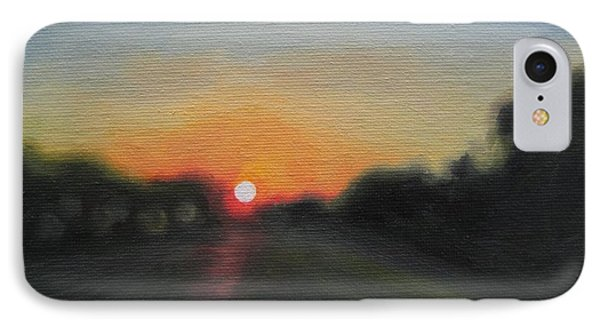 Sunset Road Phone Case by Jindra Noewi