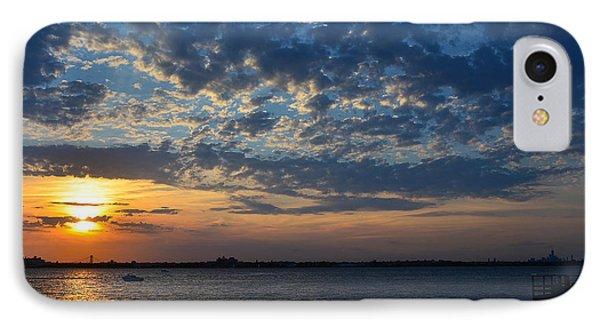 IPhone Case featuring the photograph Sunset Rockaway Point Pier by Maureen E Ritter
