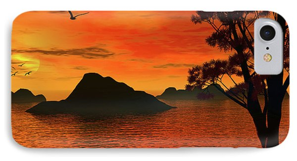 Sunset Serenade IPhone Case by Lourry Legarde