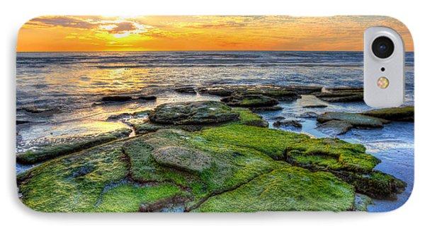 Sunset Siesta Key Rocks Phone Case by Jenny Ellen Photography