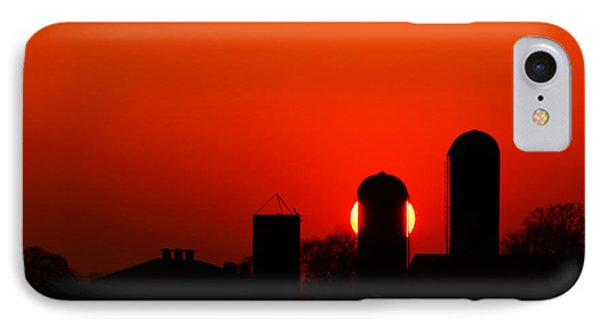 Sunset Silo Phone Case by Cale Best