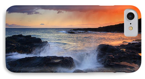 Sunset Storm Passing Phone Case by Mike  Dawson
