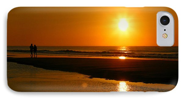 IPhone Case featuring the photograph Sunset Stroll by Mark J Seefeldt