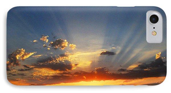 Sunset Sun Rays Phone Case by Lynn Bauer
