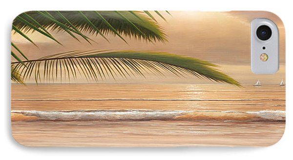 Sunset Surf Panoramic Phone Case by Diane Romanello