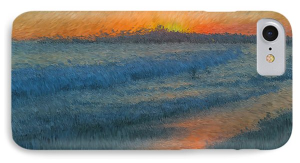 Sunset Surfers Phone Case by Heidi Smith