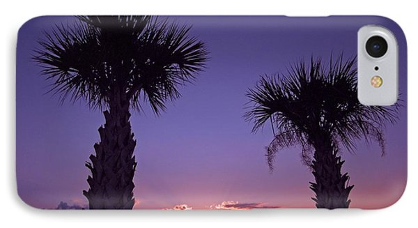IPhone Case featuring the photograph Sunset Through The Palms by Brian Wright