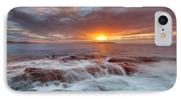 Sunset Tides - Cemlyn IPhone Case by Beverly Cash