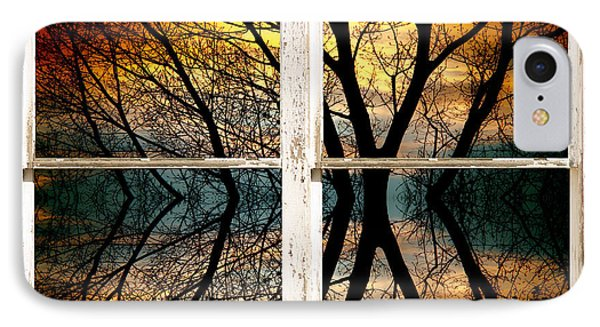 Sunset Tree Silhouette Abstract Picture Window View Phone Case by James BO  Insogna
