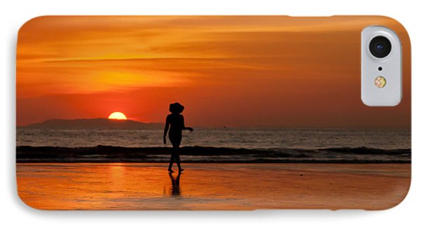 Sunset Walk IPhone Case by Anthony Doudt