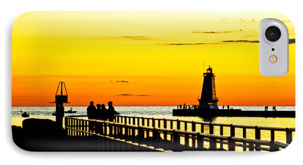 IPhone Case featuring the photograph Sunset Walk by Randall  Cogle