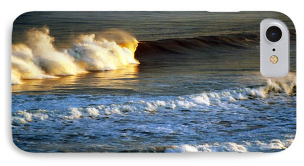 Sunset Wave Rockaway Beach Nyc IPhone Case by Maureen E Ritter