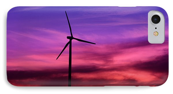 IPhone Case featuring the photograph Sunset Windmill by Alyce Taylor